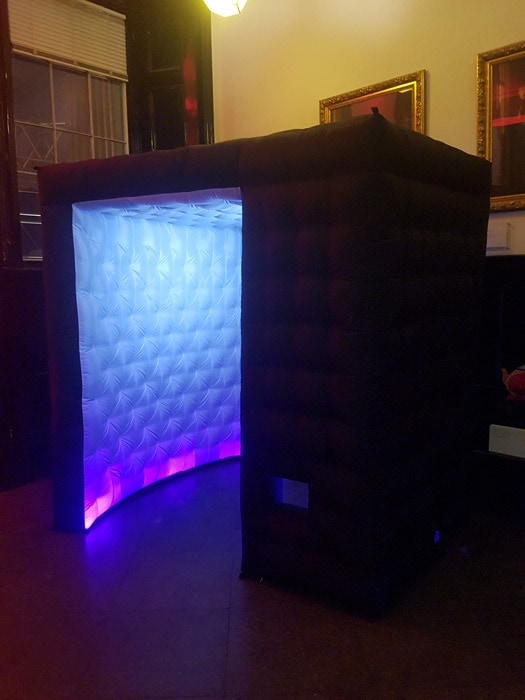 black led inflatable photo booth hire london